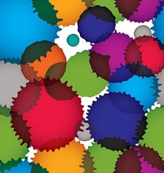 Ink splash seamless pattern with rounded overlap vector