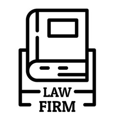 Law firm icon outline style vector