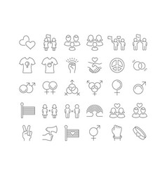 line icons international day lgbt vector image