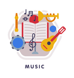 music school subject icon education and science vector image