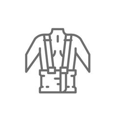 Orthopedic belt for back support line icon vector