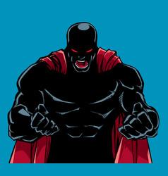 Raging superhero scream silhouette vector