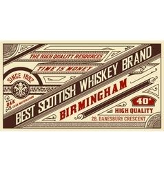 Retro whiskey label layered vector