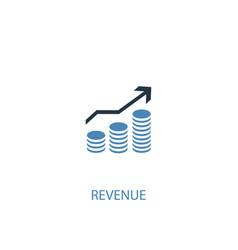 Revenue concept 2 colored icon simple blue vector