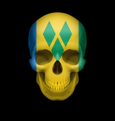 Saint Vincent and the Grenadines flag skull vector