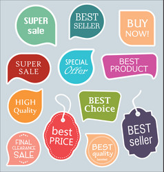 sale stickers tags and labels collection 6 vector image