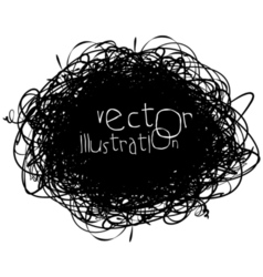 Scribble isolated on white background black vector