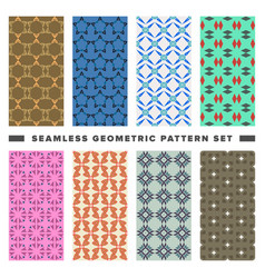 Set of seamless decorative geometric shapes vector