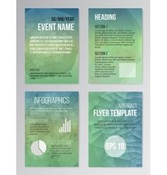 Set poster brochure design templates in aqua vector