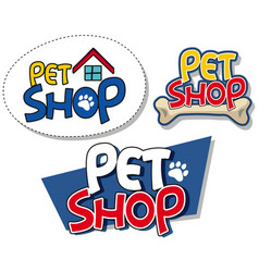 Sign template for pet shop vector