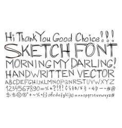 Sketch font alphabet handwritten comic strip vector