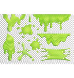 slime drips realistic set vector image