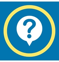 Status flat yellow and white colors rounded vector