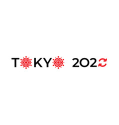 Symbol olympic games in tokyo 2020 the vector