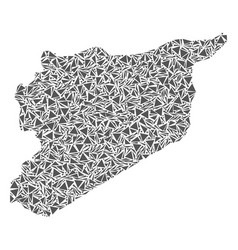 Syria map of triangles vector