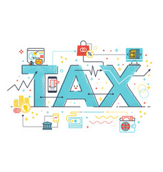 tax refund business concept vector image