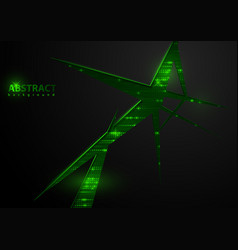 tech background with green elements vector image