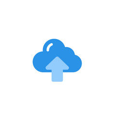 upload icon blue monochrome color vector image