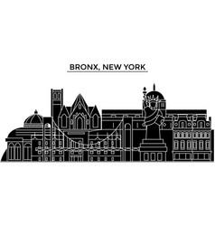 usa bronx new york architecture city vector image