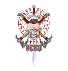 viking axe cl 0002 vector image
