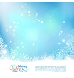 Abstract Christmas Winter Background vector image vector image