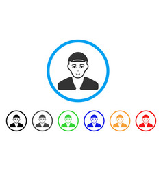 Boy rounded icon vector