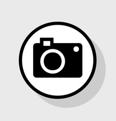 digital camera sign flat black icon in vector image vector image