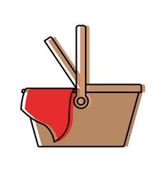 picnic basket icon watercolor silhouette vector image