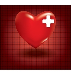 Concept of medical problem with heart vector image vector image