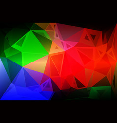 green blue orange red random sizes low poly vector image