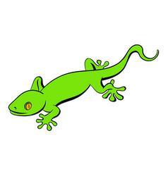 green gecko lizard icon cartoon vector image vector image