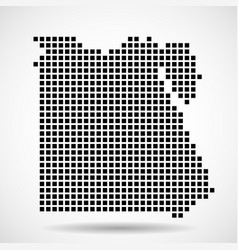 pixel map of egypt vector image