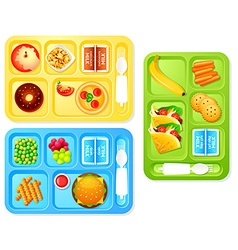 School lunches vector image