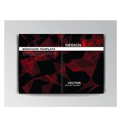 Template of brochure with abstract elements vector image vector image