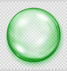 Transparent green sphere with shadow vector