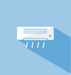 Air conditioning icon with shade on blue vector