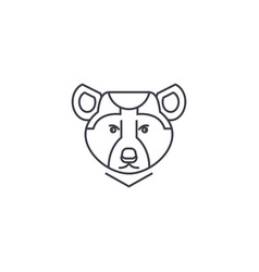 bear line icon sign vector image vector image