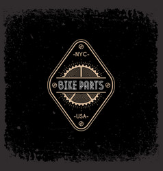 bike parts label vector image