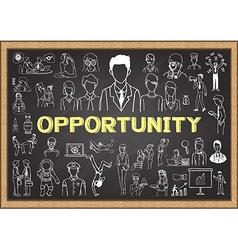 Career on chalkboard vector image