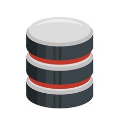 color silhouette of database 3d icon vector image