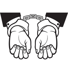 Hands in Handcuffs Icon vector image vector image