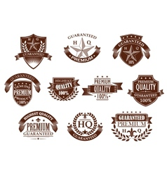Premium and highest quality guaranteed labels vector image vector image