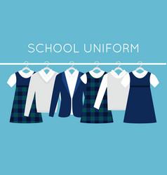 school or college uniforms on hangers in line vector image