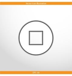 stop web flat icon vector image