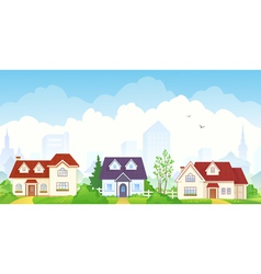 Summer suburb vector image