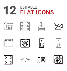 12 number icons vector
