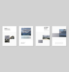 A4 brochure layout modern covers design vector