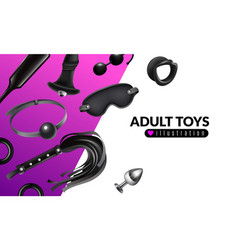 adult toys vector image