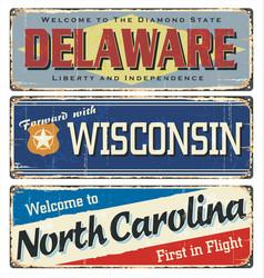america state retro souvenirs us vector image