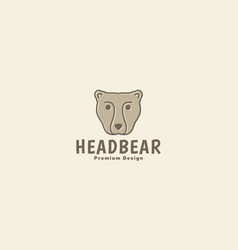Animal head bear grizzly logo symbol icon graphic vector
